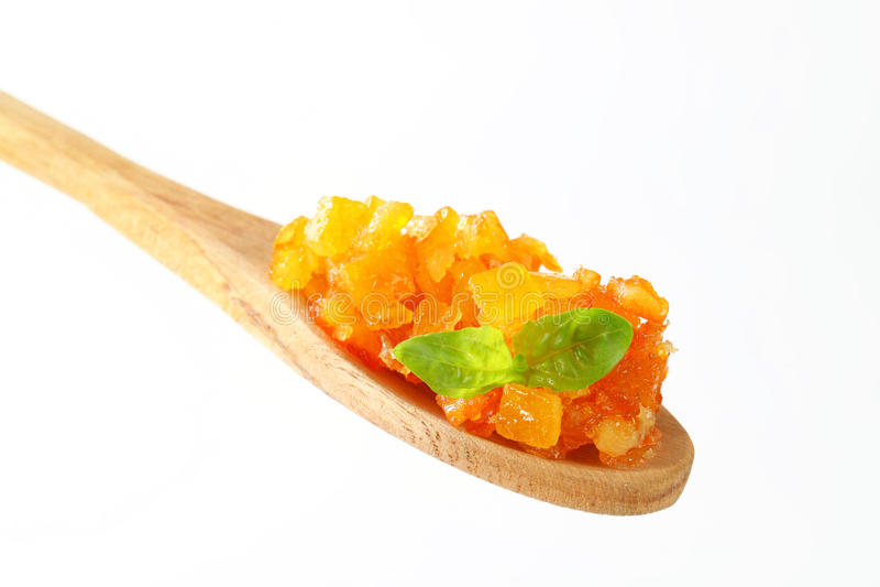 Geglaceerde citrusvruchtenschil royalty-vrije stock fotografie