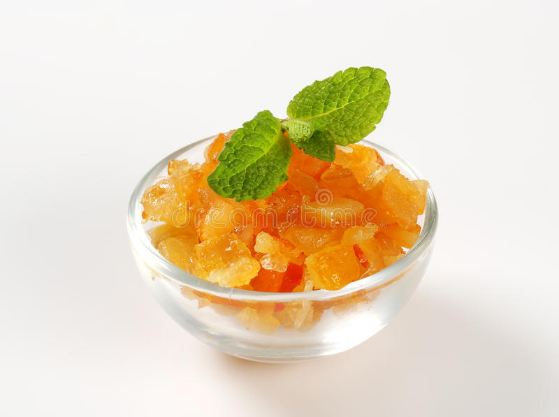 Geglaceerde citrusvruchtenschil royalty-vrije stock foto's