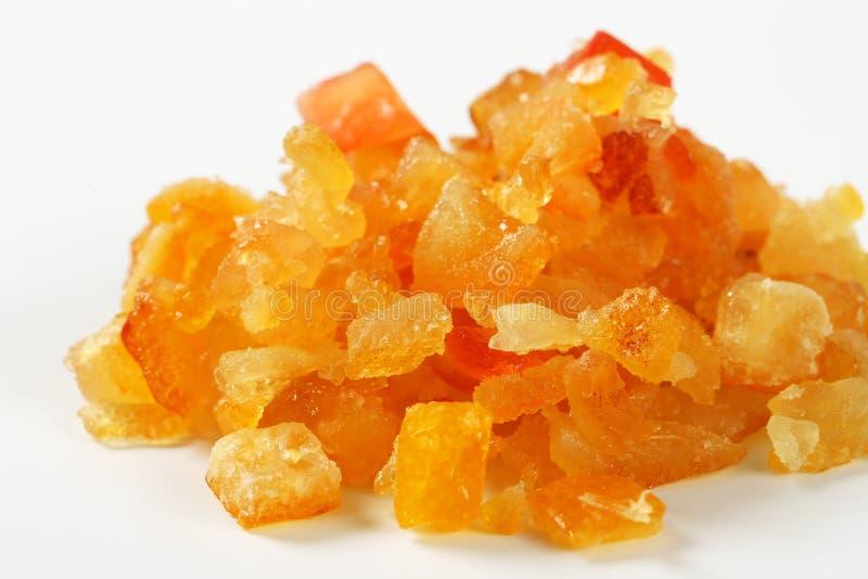 Geglaceerde citrusvruchtenschil stock afbeeldingen