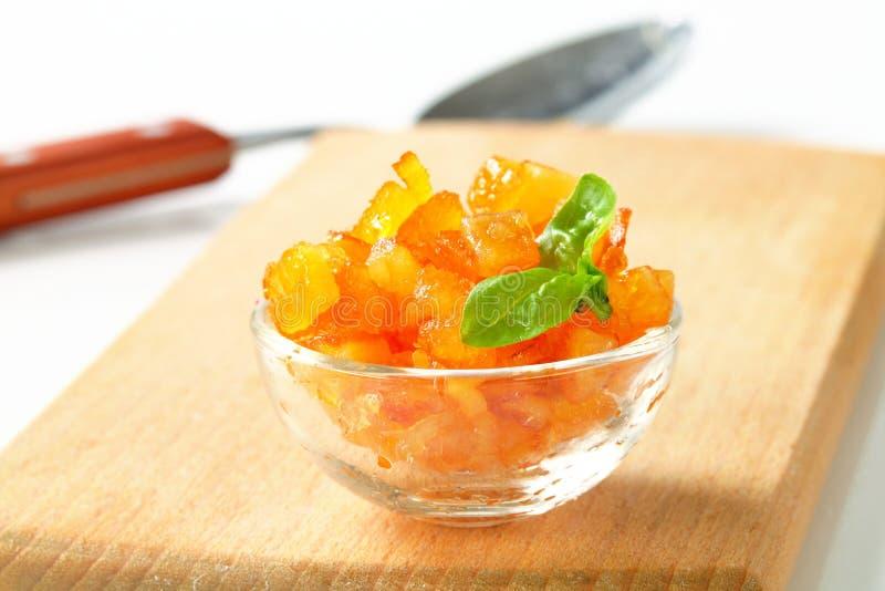 Geglaceerde citrusvruchtenschil stock fotografie
