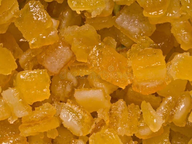 Geglaceerde oranje citrusvruchtenschil royalty-vrije stock afbeeldingen