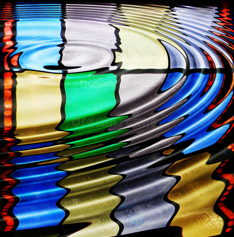 Gegolft Gebrandschilderd glas stock illustratie