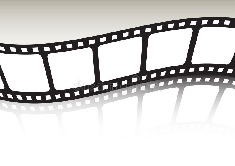 Gegolfte de strook van de film stock illustratie