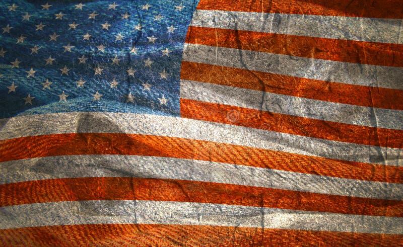 Gegolfte vlag van de V.S. vector illustratie