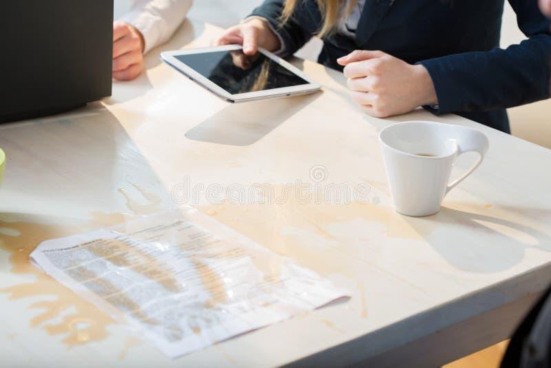 Gegoten koffie royalty-vrije stock foto