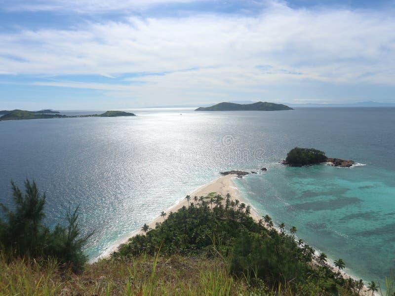 Gegoten weg - het Eiland van Fiji - Monuriki stock fotografie