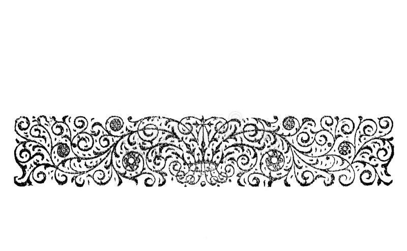 Gegraveerde grens royalty-vrije illustratie