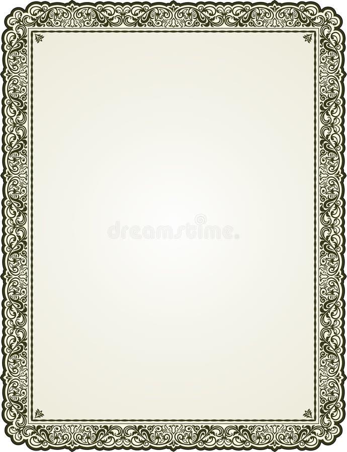 Gegrenst bloemenkader royalty-vrije illustratie
