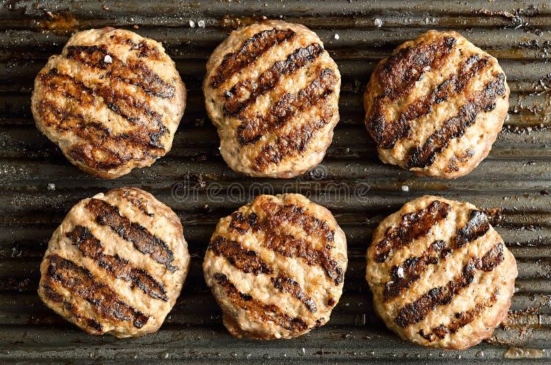 Gegrillte Burger stockbilder
