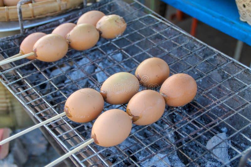 Gegrillte Eier, Thailand-Stra?ennahrung lizenzfreies stockfoto