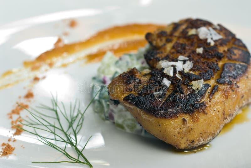 Gegrillte Foie gras lizenzfreie stockfotografie