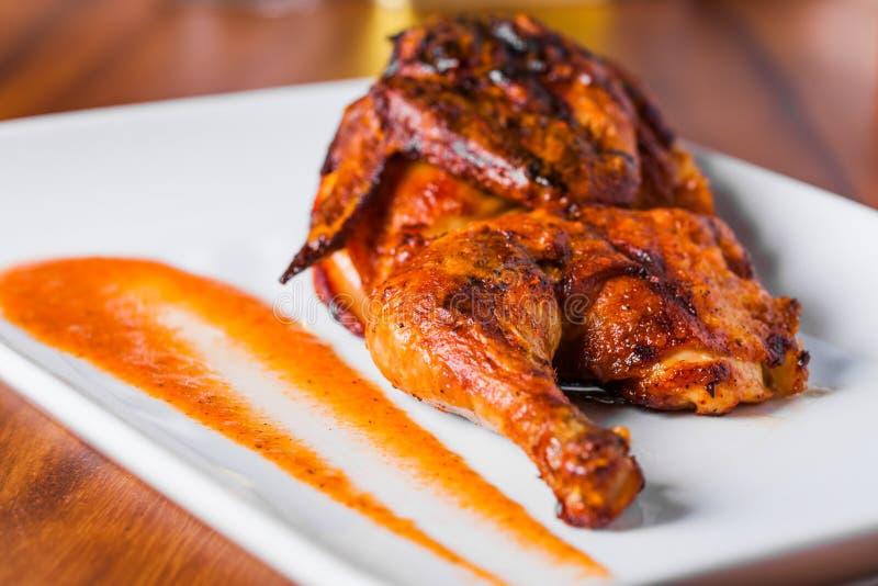 Gegrillte Hühnerplatte stockfotos