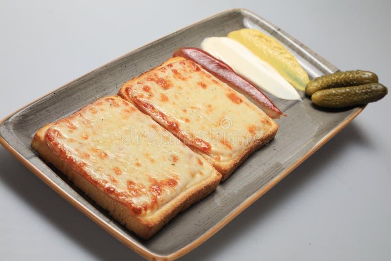 Gegrillte Käsesandwiche stockbilder