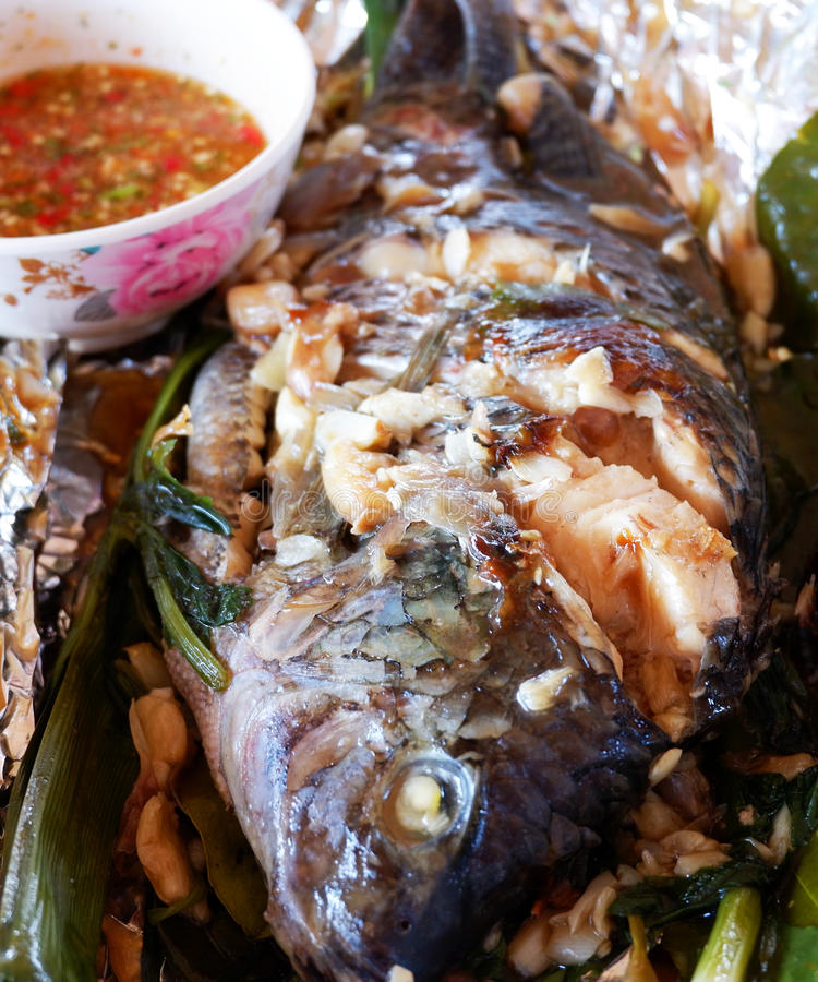 Gegrillte Tilapia-Fische Floyd lizenzfreie stockbilder