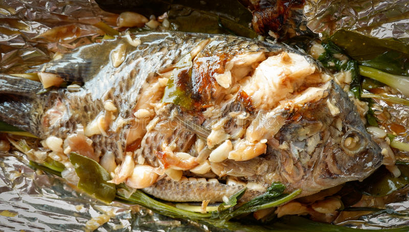 Gegrillte Tilapia-Fische Floyd lizenzfreie stockfotografie