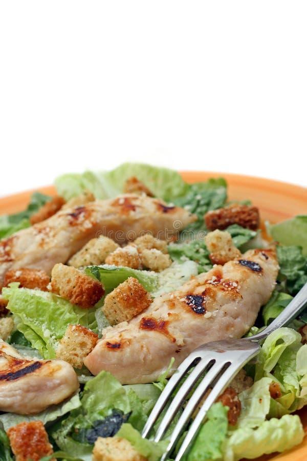 Gegrillter Huhn-Caesar-Salat stockfotografie