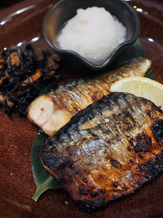 Gegrilltes Fischfilet stockfotos
