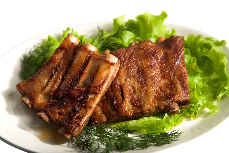 Gegrilltes Fleisch stockbild