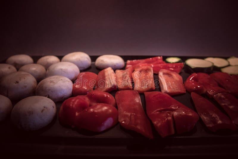 Gegrilltes Gemüse Schwermütiges Lebensmittel stockfoto
