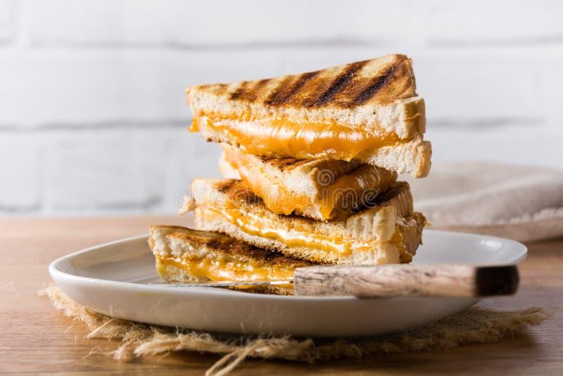Gegrilltes Käse-Sandwich stockfotografie