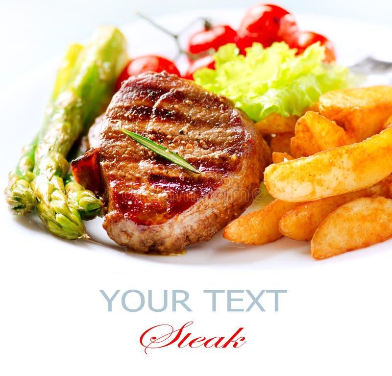 Gegrilltes Rindfleisch-Steak lizenzfreies stockbild