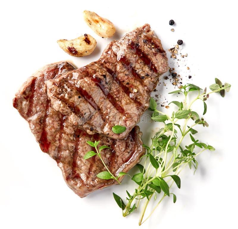 Gegrilltes Rindfleischsteak stockbilder