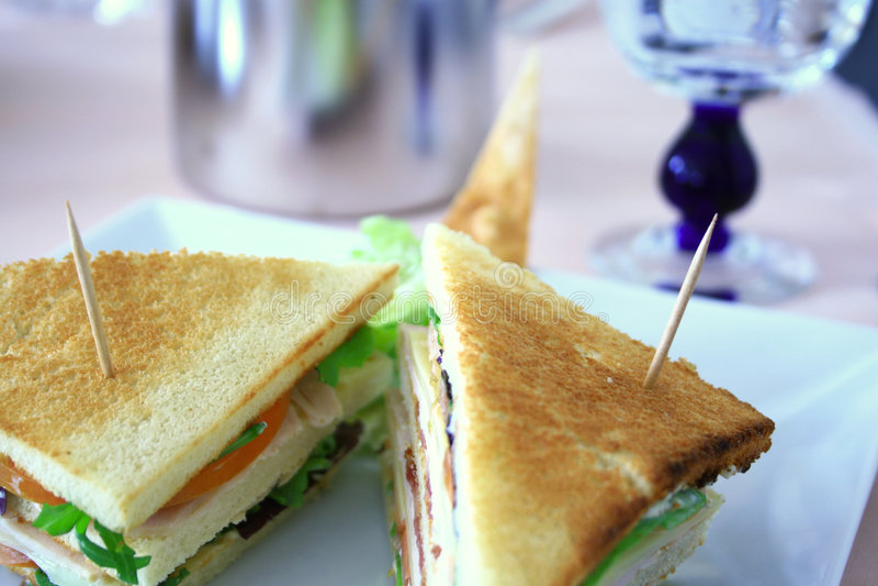Gegrilltes Sandwich lizenzfreies stockfoto