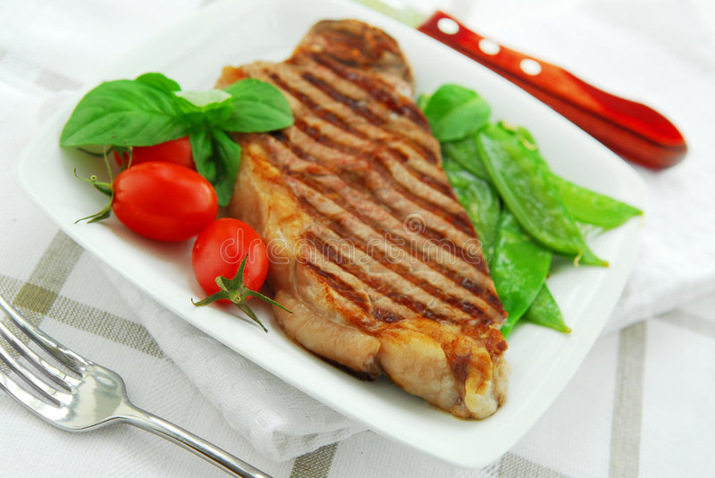 Gegrilltes Steak stockfoto