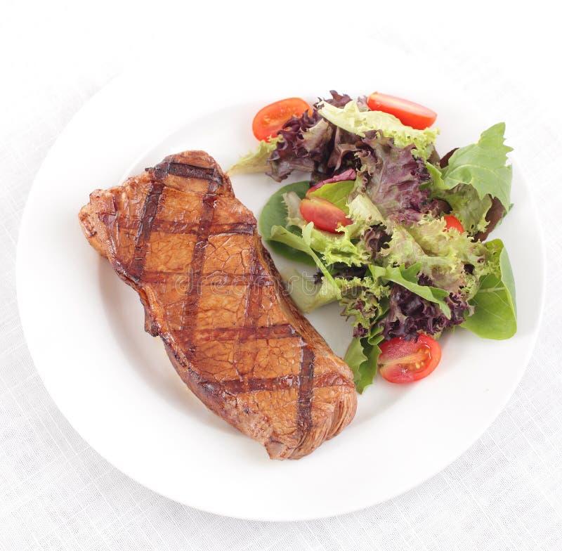 Gegrilltes Steak - saftiges Rindfleisch stockbild