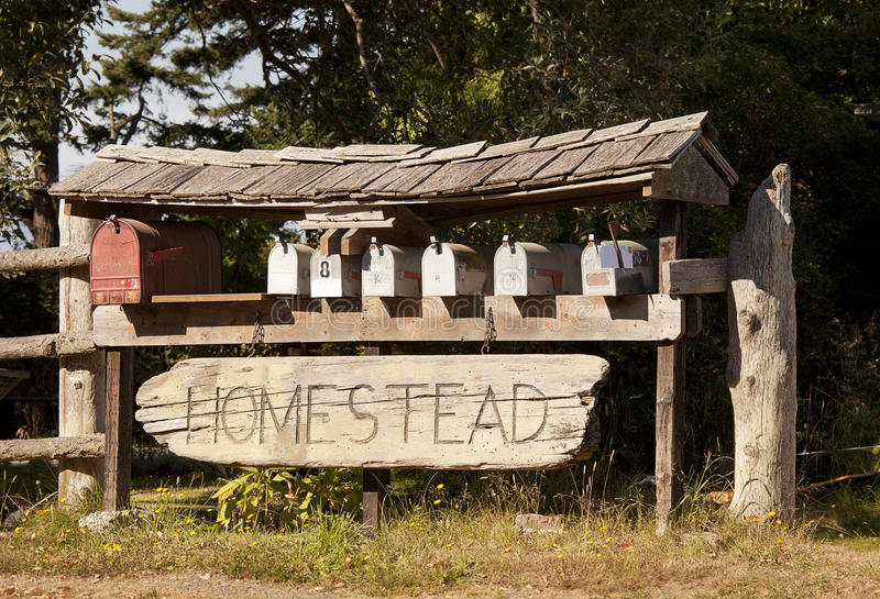 Gehöft-Mailboxes stockbilder