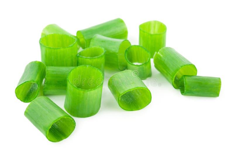 Gehackte grüne Zwiebeln lizenzfreies stockbild