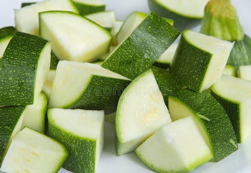 Gehackte Zucchini stockbilder