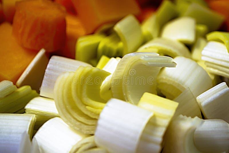 Gehacktes Gemüse für eine gesunde Diät stockfotos