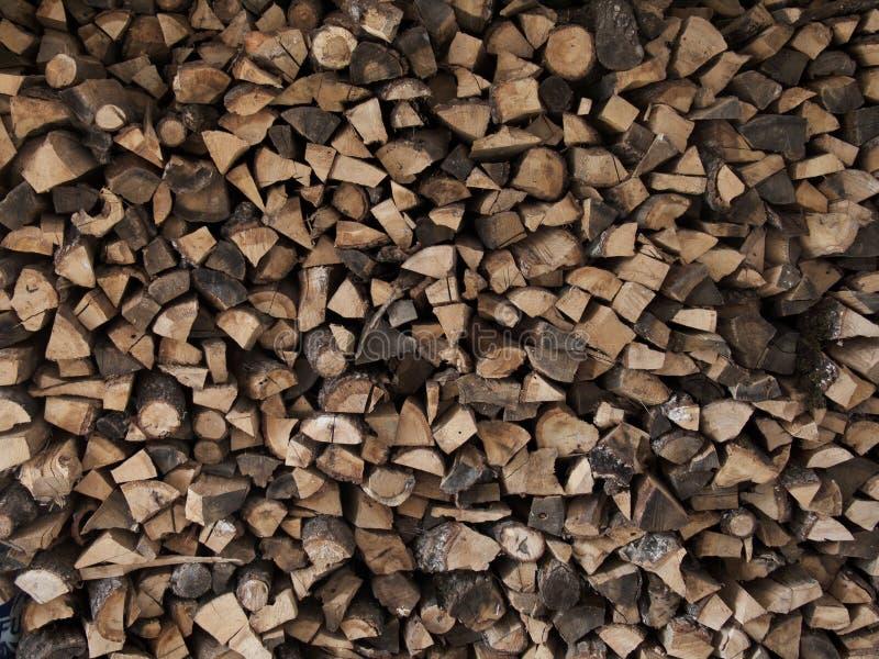 Gehacktes Holz stockfotografie