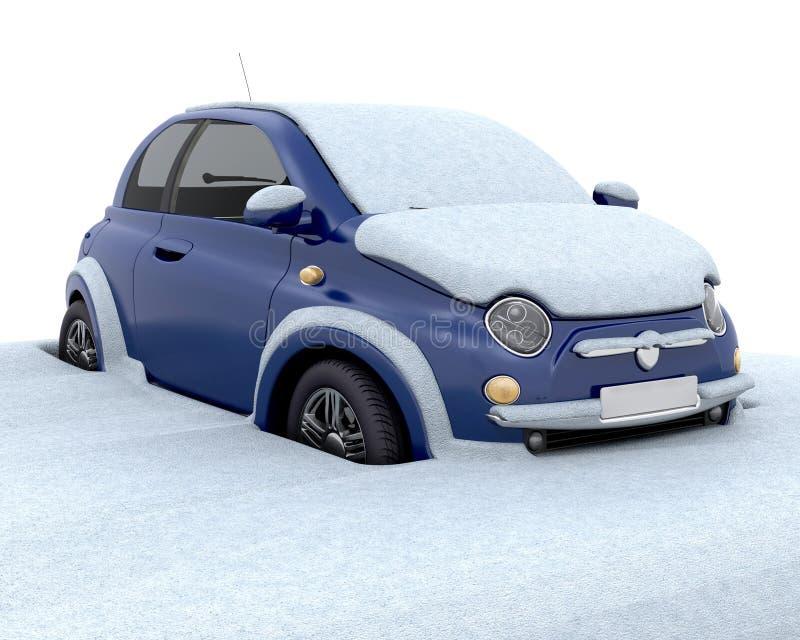 Gehaftet im Schnee stock abbildung