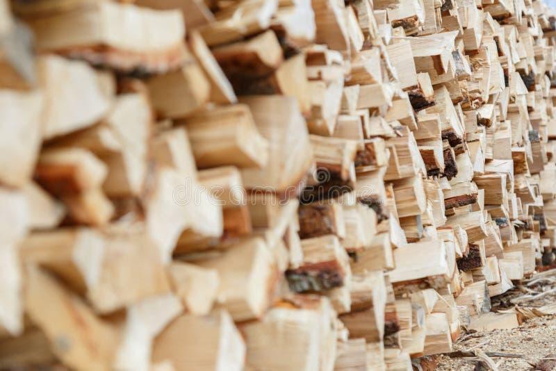 Gehakt brandhout klaar royalty-vrije stock foto's