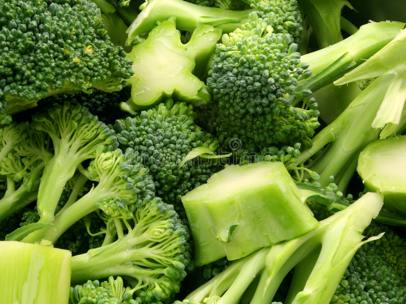 Gehakte broccoli stock foto