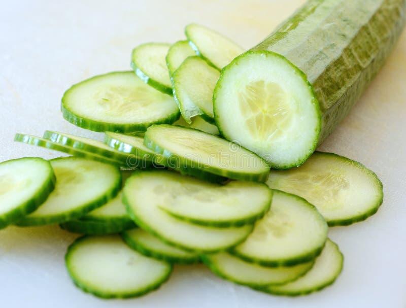 Gehakte komkommer royalty-vrije stock afbeelding