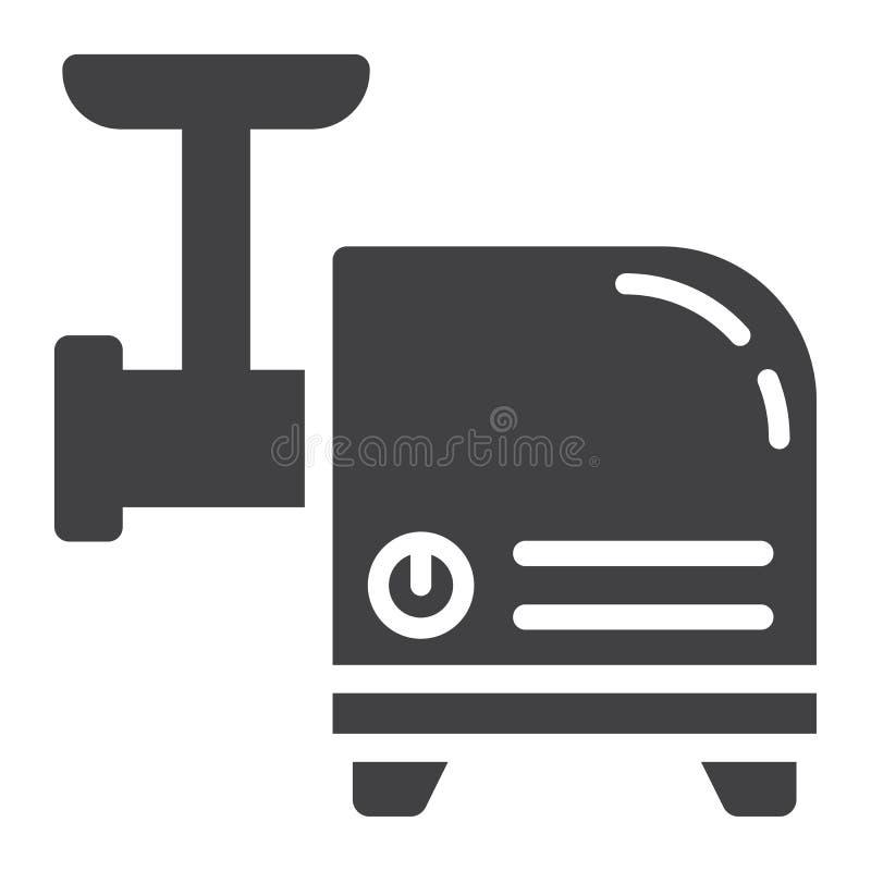 Gehaktmolen stevig pictogram, huishoudapparaat royalty-vrije illustratie