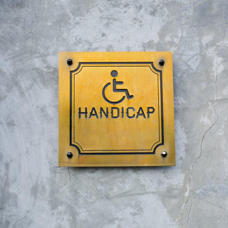 Gehandicapt die Handicappictogram en de verwoording van Handicapteken van goud wordt gemaakt stock afbeelding