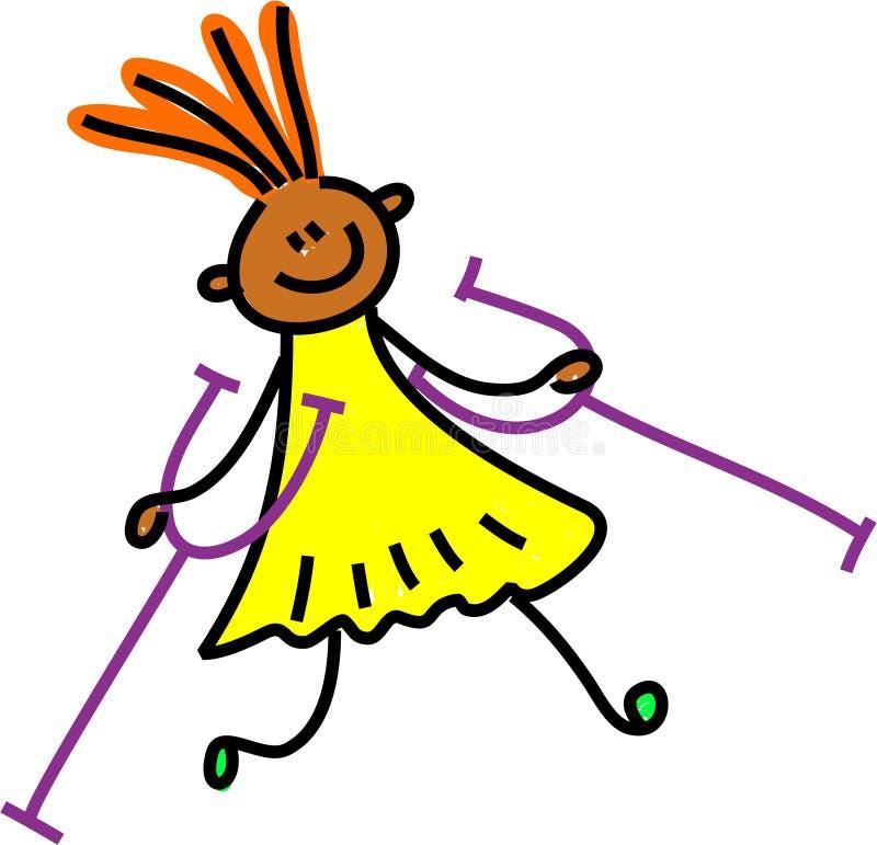 Gehandicapt meisje vector illustratie