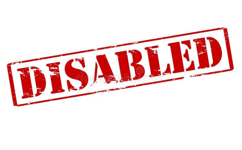 gehandicapten stock illustratie