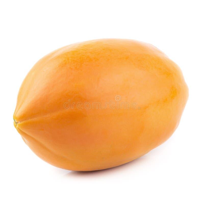 Geheel van rijp die papajafruit op witte achtergrond wordt geïsoleerd royalty-vrije stock afbeelding