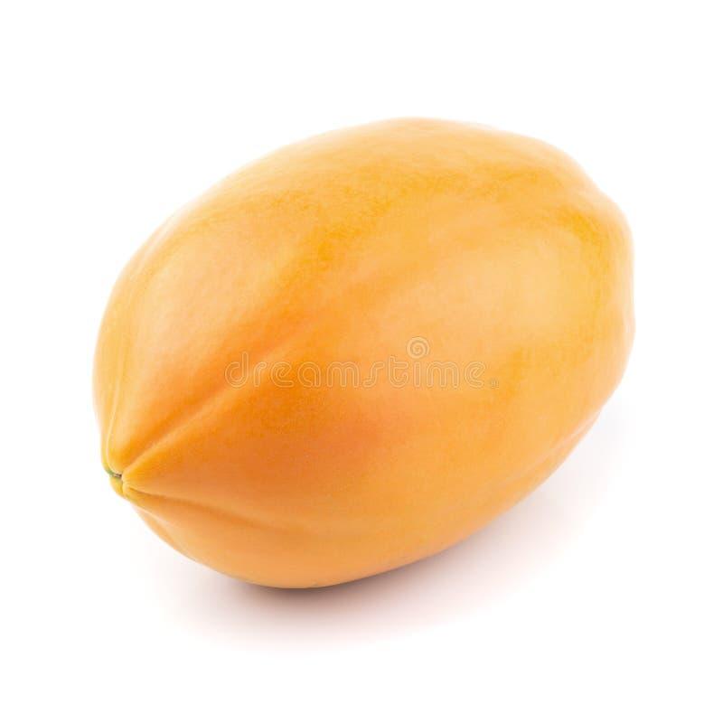 Geheel van rijp die papajafruit op witte achtergrond wordt geïsoleerd stock afbeelding