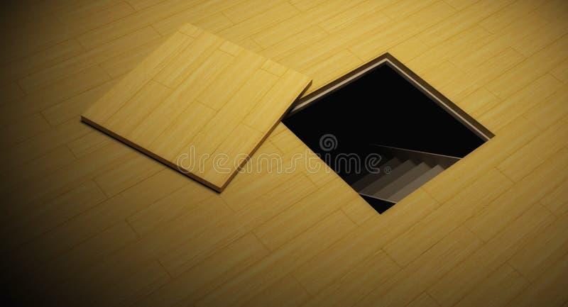 Geheim verborgen deur vector illustratie