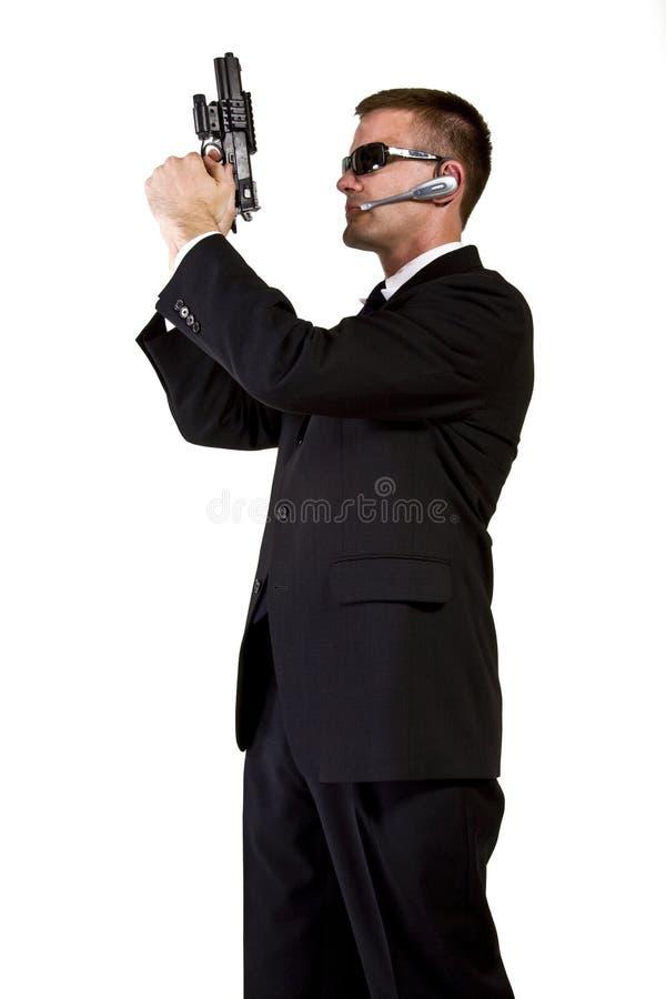 Geheimagent bewaffnet und gefährlich lizenzfreie stockfotografie