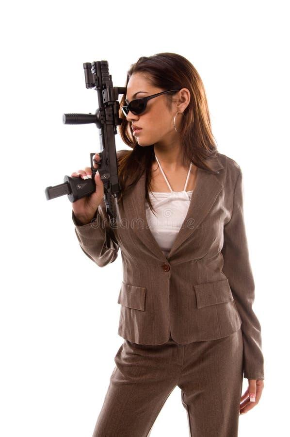 Geheimagent-Frau stockfotografie