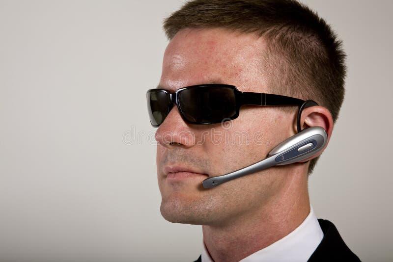 Geheimagent-Hören stockbild