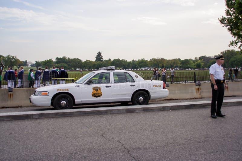 Geheimagent-Polizeiwagen stockfotos