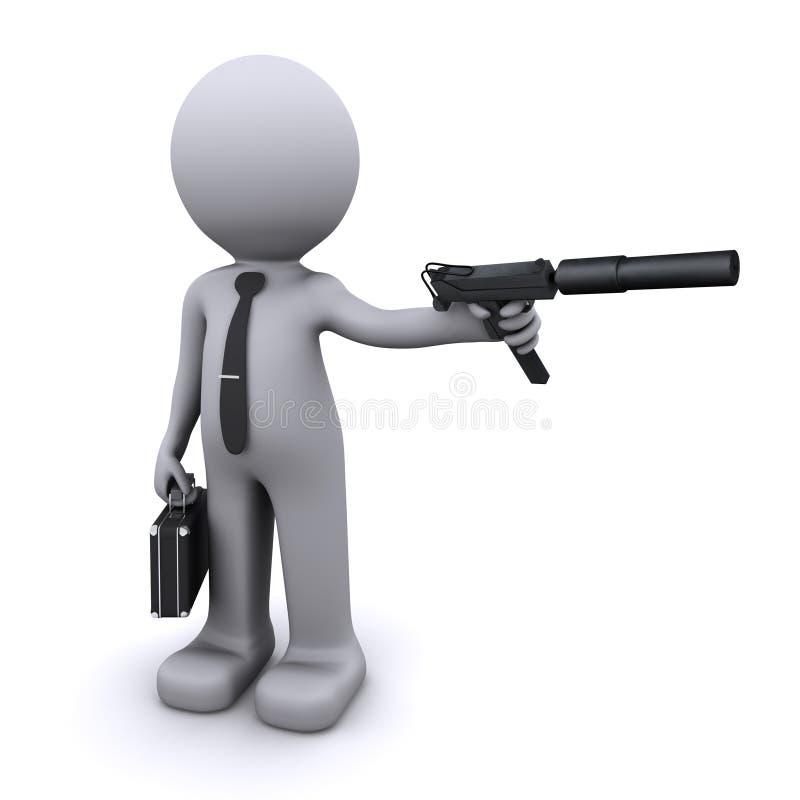 Geheimagent-/Spionkonzept lizenzfreie abbildung